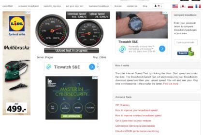 Broadbandspeedchecker.co.uk (Speedtest) - test rychlosti připojení k internetu