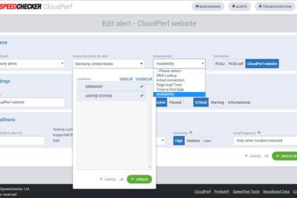 CloudPerf - monitoring výkonu a dostupnosti