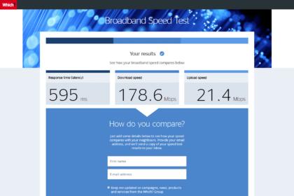 Which.co.uk (Speedtest) - test rychlosti připojení k internetu