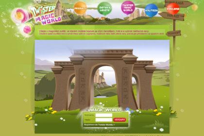 Algida Twister - webová prezentace